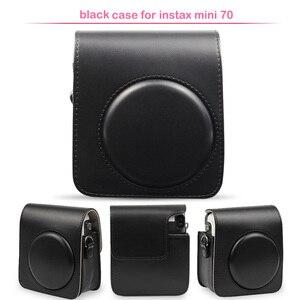 Image 3 - Sac de protection classique en cuir pour appareil photo avec bandoulière, Compatible pour appareil photo instantané Fujifilm Instax Mini 70