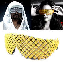 Gold Silver Steampunk Sunglasses for Women Novelty Fashion Luxury Men Sun Glasses Pyramid Party Celebrity Goggles Hip Hop Gothic
