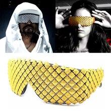 Goud Zilver Steampunk Zonnebril Voor Vrouwen Nieuwigheid Mode Luxe Mannen Zonnebril Piramide Party Celebrity Bril Hip Hop Gothic