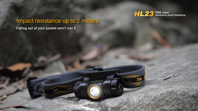 Image 4 - 2015 Best Selling Camping Head Lamp FENIX HL23 LED Waterproof AA Headlamp with Free Battery-in Headlamps from Lights & Lighting