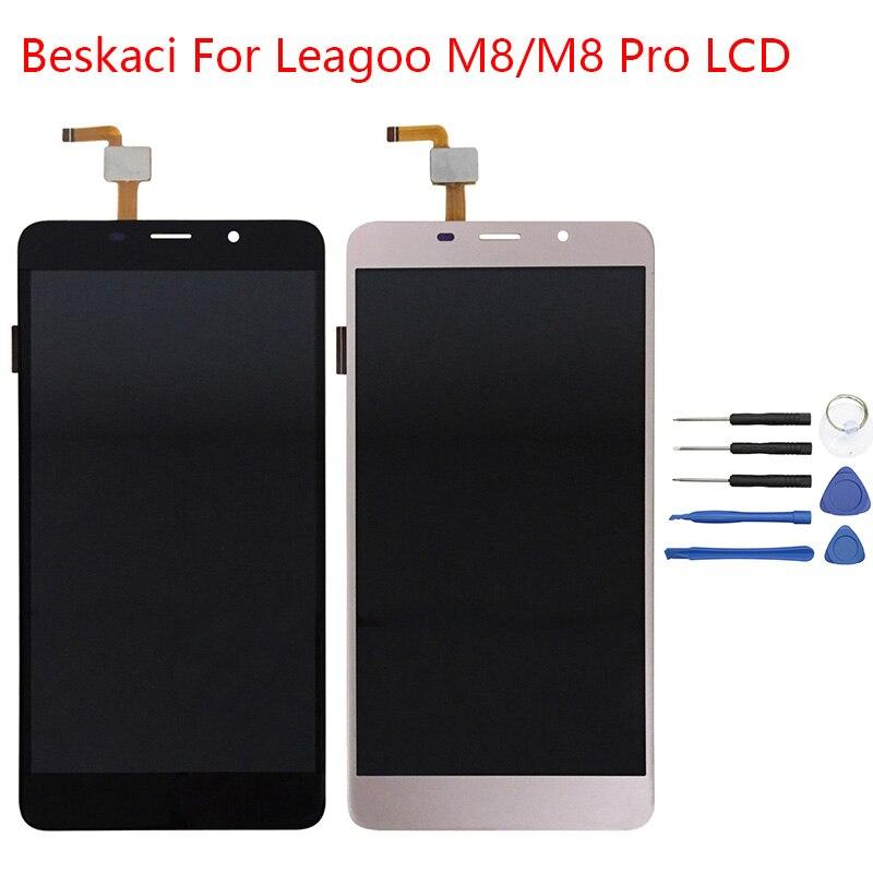 Beskaci M8 LCD Pour Leagoo M8 M8 Pro LCD Affichage Tactile Assemblée D'écran Leagoo M8 LCD Écran Pièce De Rechange