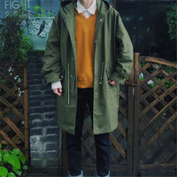 Autumn Winter Trench Men Casual Oversized Long Coat Hooded Outcoats Man Size S-XL Two Types Thick Warm Winter Jackets Coats Male