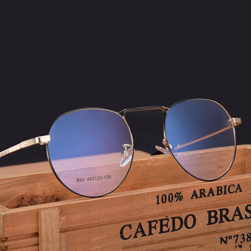 New retro Full frame glasses Metal alloy glasses men and women Myopia frame prescription Optical glasses 860 in Men 39 s Eyewear Frames from Apparel Accessories
