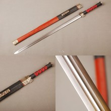 Details about GIFT Folded Steel Blade Han Dynasty Knife Chinese Traditional Staight Sword with Double-BO-HI