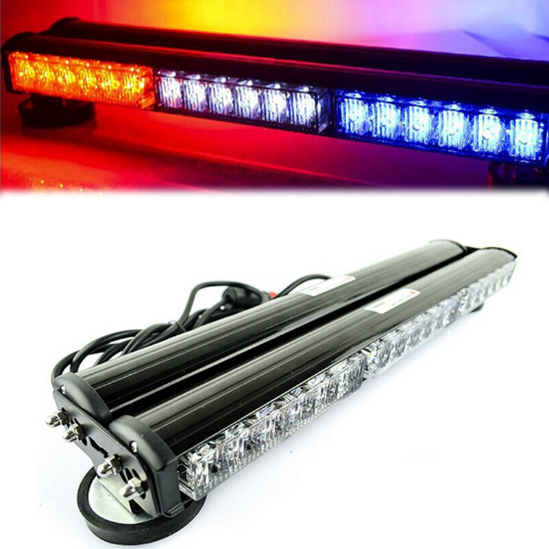 120W Light Bar Emergency Warning Flashing Light Car Police Strobe Flash Light Bar DC 12V 36 LED Red/White/Blue цена 2017
