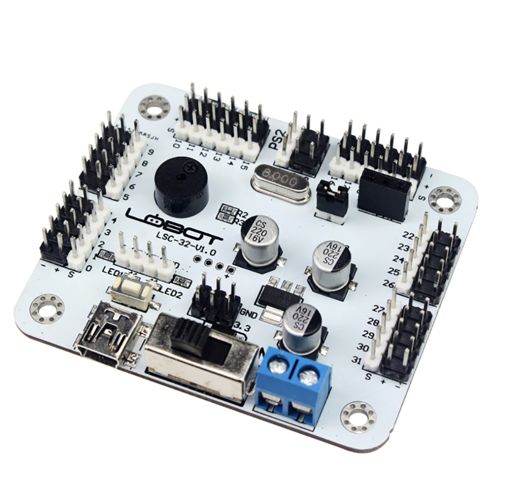 32CH Servo Controller Driver for RC Robot Manipulator Mechanical Arm PS2 Compatible with Overload Protection