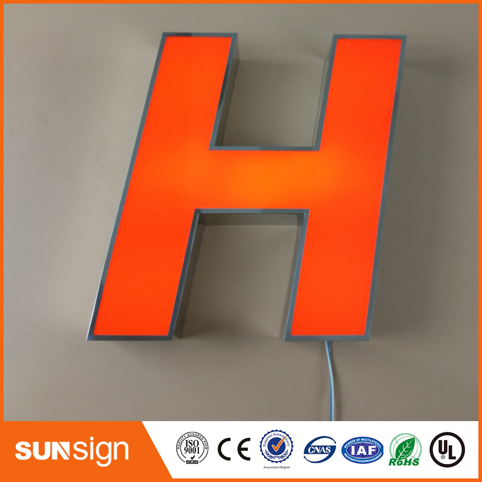 Helpful Frontlit Stainless Steel Channel Letter Signage Firm In Structure