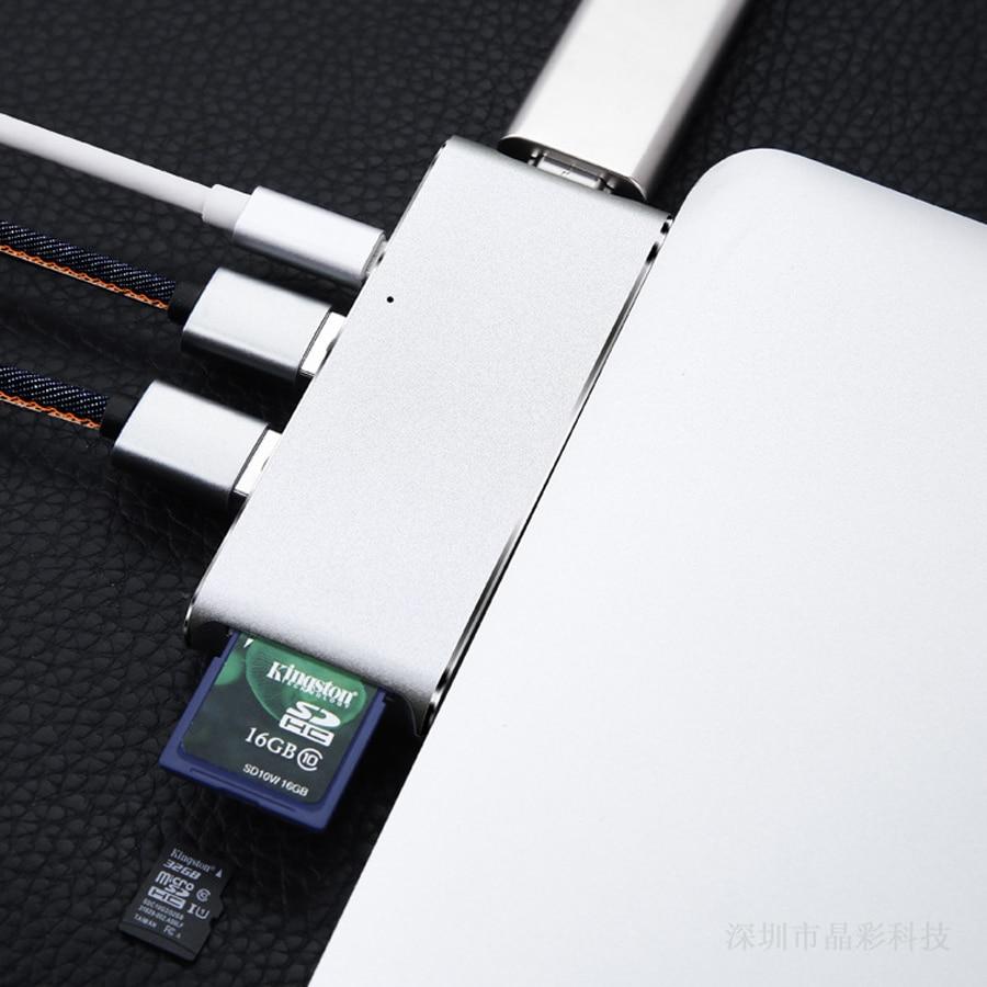 Type-c multi-function converter USB-C dual connector usb aluminum HDMI dual typeC hub extender