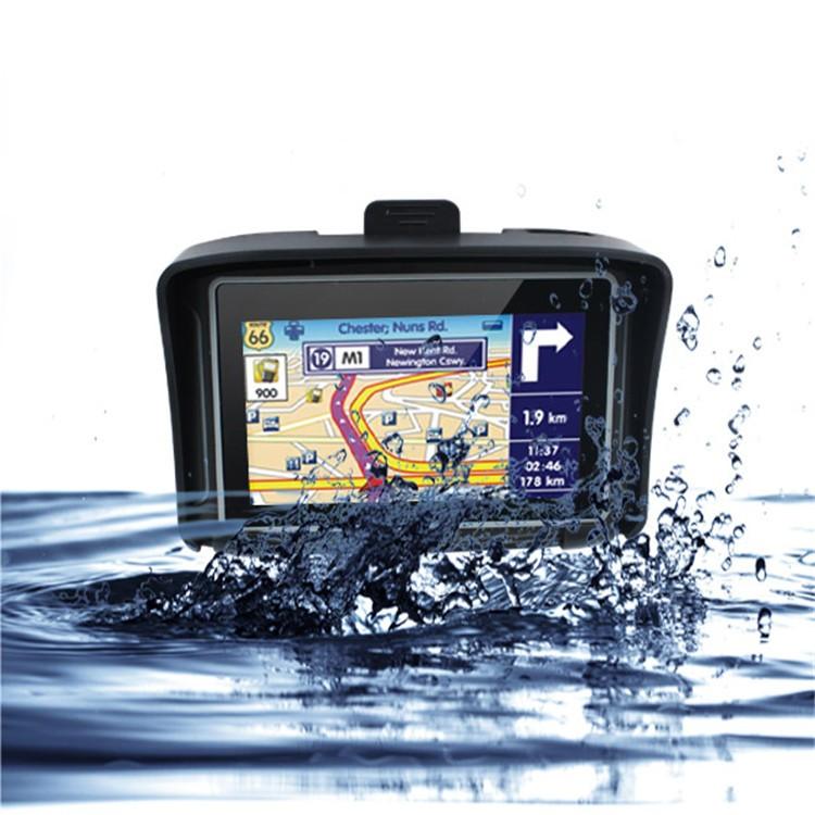 4.3 Waterproof IPX7 Motorcycle Bluetooth GPS Navigation MOTO Navigator with Free Maps 8G Flash for Car Motobike (4)
