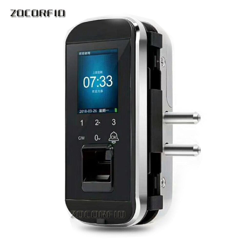 DIY zo gemakkelijk Biometrische Vingerafdruk Deurslot Voor Kantoor Glazen Deur Keyless Met Touch Toetsenbord Afstandsbediening Intelligente Slot - 5