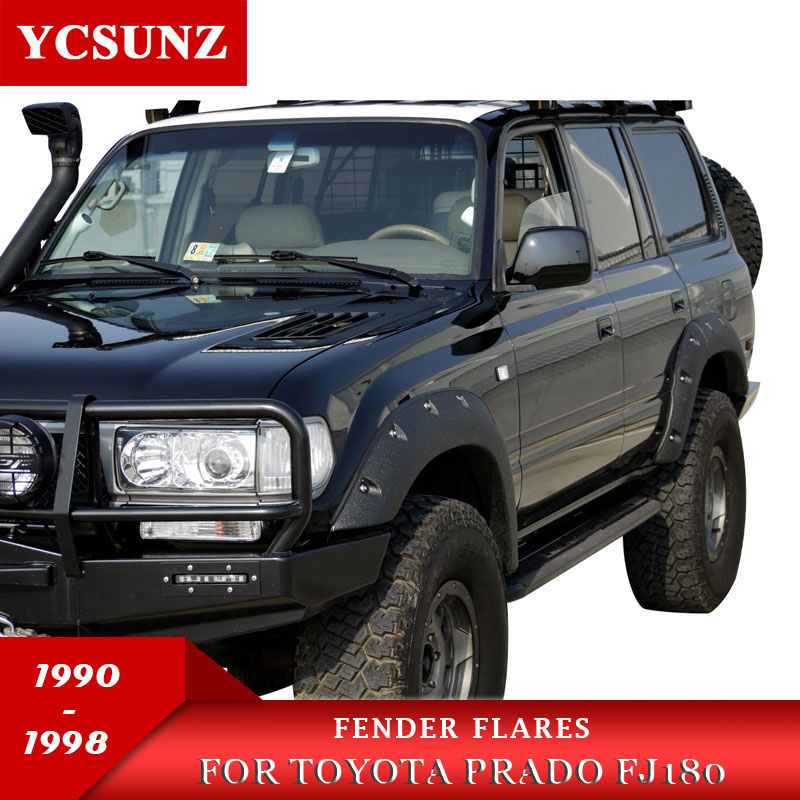 Fender Flares Wheel Arch Fender Accessories Mudguard For Toyota Land Cruiser Prado Lc80 Fj80 1990 1998
