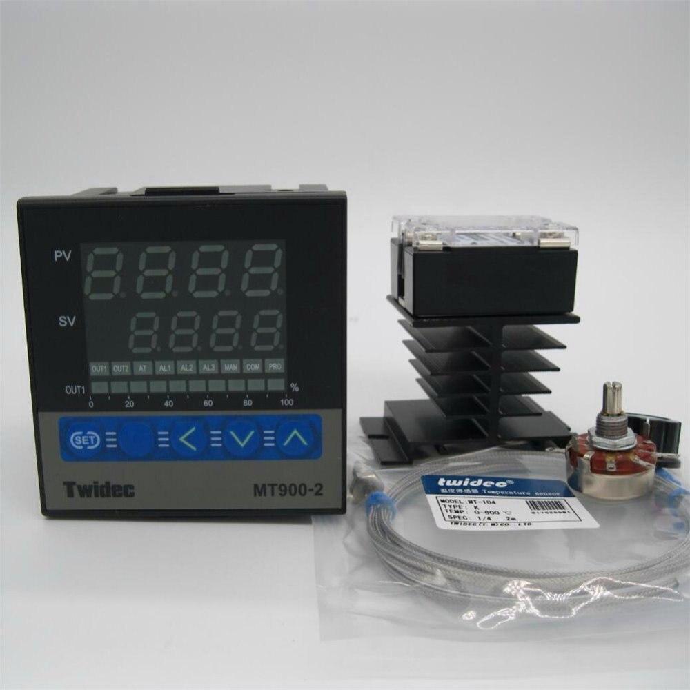 PID Digital Controlador de temperatura do Termostato de alta Qualidade 96*96*95 + SSR-60DA Relé + K Termopar Sonda de + Dissipador de Calor