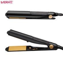 Promo offer Multifunctional Hair Straightener Mini Flat Iron Infrared Cold Hair Straightener Curler Electric Magic Hair Straighting Tools