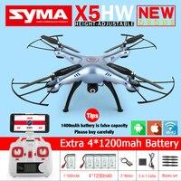 Syma X5HW FPV RC Quadcopter Zangão com Câmera WI-FI HD 2.4G 6-Axis VS Syma X5C Atualização dron Helicóptero RC Brinquedos com 5 bateria