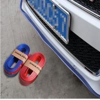 KAKUDER New Fashion Universal Carbon Fiber Front Bumper Lip Splitter Chin Spoiler Body Kit Trim Dropshipping