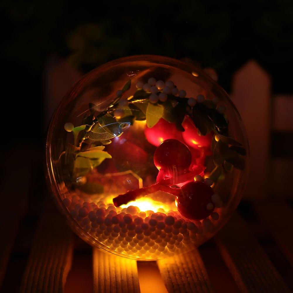 Светящийся Рождественский светящийся шар, блестящий настенный светильник для отеля, для свадебной вечеринки, домашний декор, Рождественская елка, подвеска, сделай сам, Рождественский шар, Декор - Цвет: colorful lights