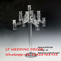 9 arms 84cm 33inch Tall crystal candelabra candle holder wedding table centerpieces dinner table decoration