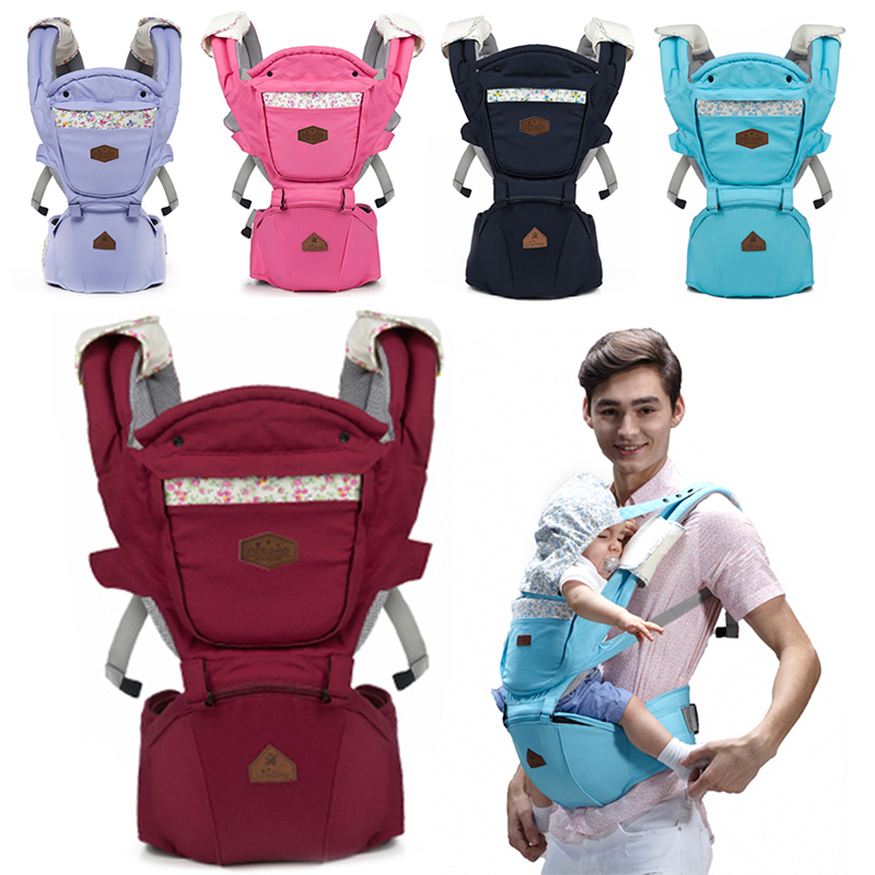 New 1 Pcs Ergonomic Baby Carrier Breathable Backpack Hip Seat Baby Infant Detachable Baby Sling Stool Waist Baby 5 Color bethbear comfortable breathable multifunction carrier infant backpack baby hip seat waist stool