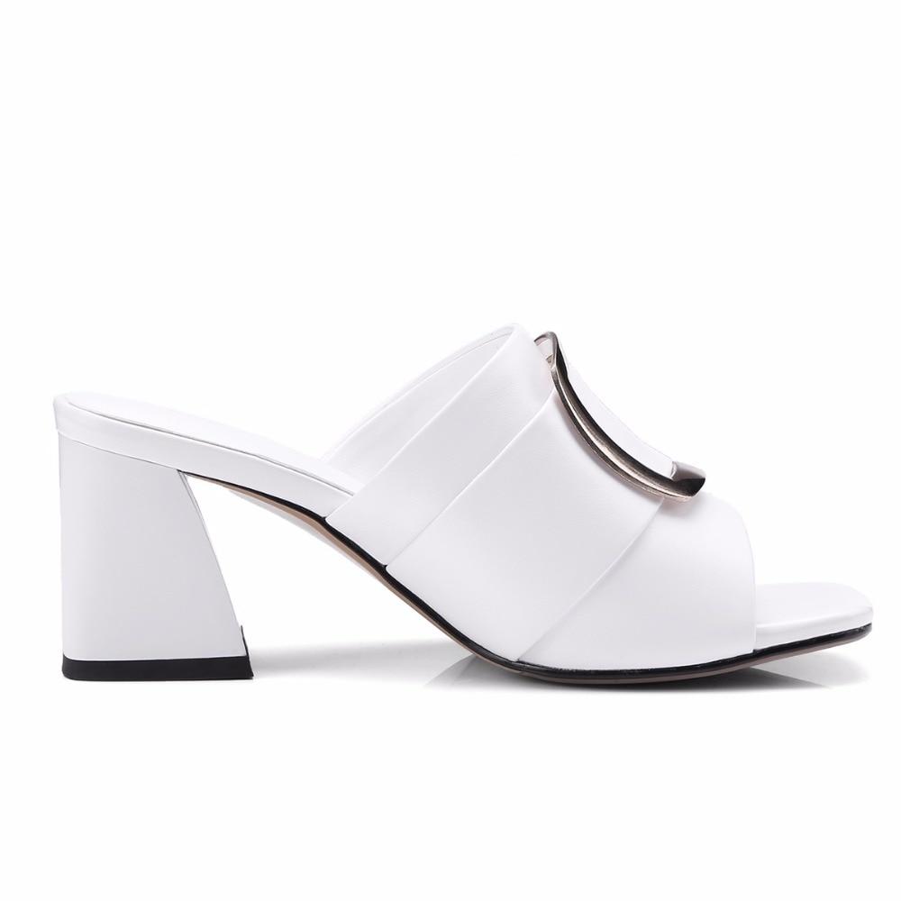Mode Talons Femmes Slippers Hauts Épais Maguidern Chaussures Slippers daOI5xq