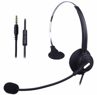 Wantek Wired Mobile Phone Headset for iPhone Samsung HTC LG Blackberry Huawei Cell Phone & Most Android Phones with 3.5mm Jack