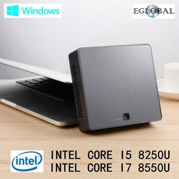 DDR4 Mini PC Intel Core i7 8550U 16GB RAM 512GB SSD Option Nuc Mini Computer i5 8250U windows 10 Quad Core mini pc type-c HDMI parallel