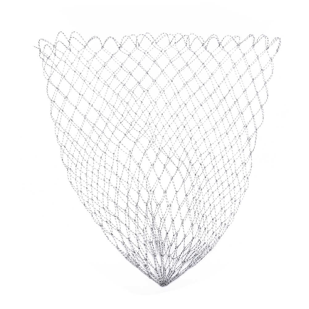 Double Line Braided Mesh Fishing Landing Net  Fishing Tools Mesh Hole For Bass Trout Catch Luring Accesorry 35/45/70 cm