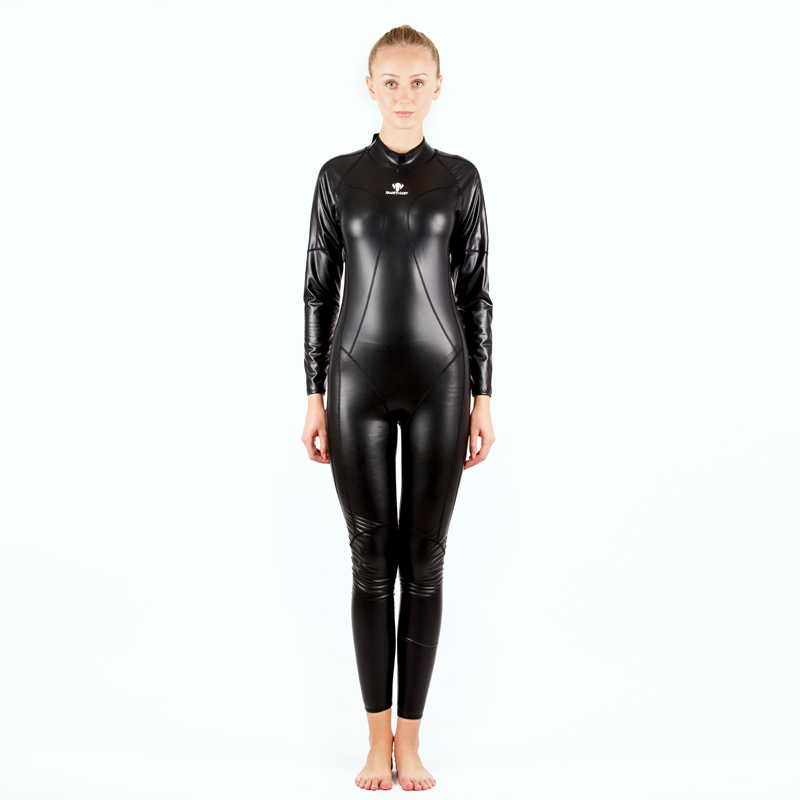 Women Winter PU Professional Warm Full Body SwimSuit Quick Drying Paded Competition Diving PlusSize Body Bathing SwimWear Zipper professional sports kneepad warm air drying