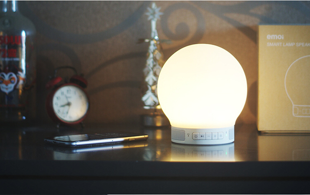 High Tech Emoi Intelligent Emotion Light Touch Sensor Mini LED Light  Bluetooth Bass Speaker Lamp