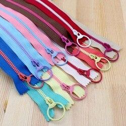 2015 new bright color 30cm 3 resin contrast color zipper fashion pull ring zipper head diy.jpg 250x250