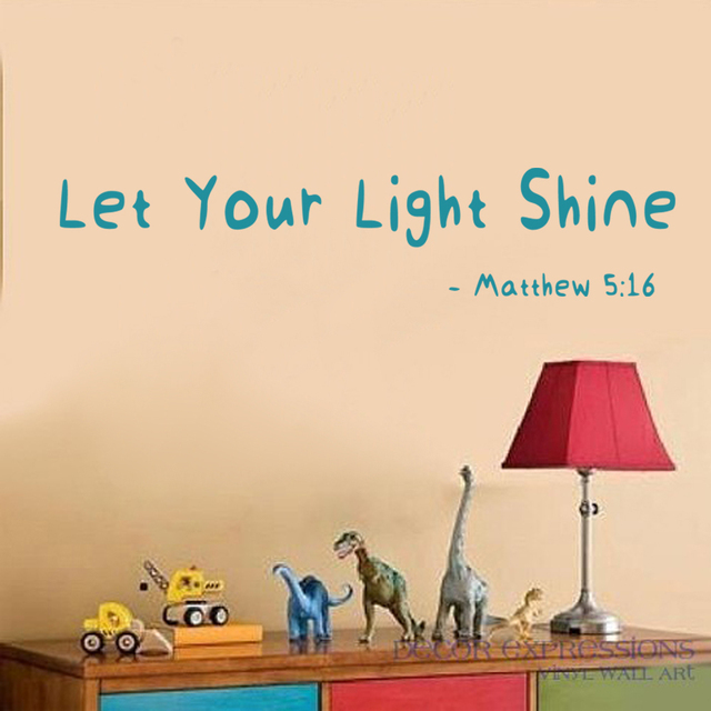 Scripture Wall Art Wall Decal Christian Wall Decor: Let Your Light Shine    MATTHEW 5