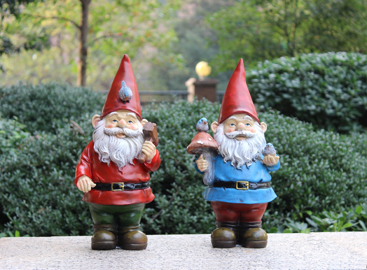 handmade vintage free resin garden figurines gnomes for sale poly resin christmas santa claus garden decorations in figurines miniatures from home