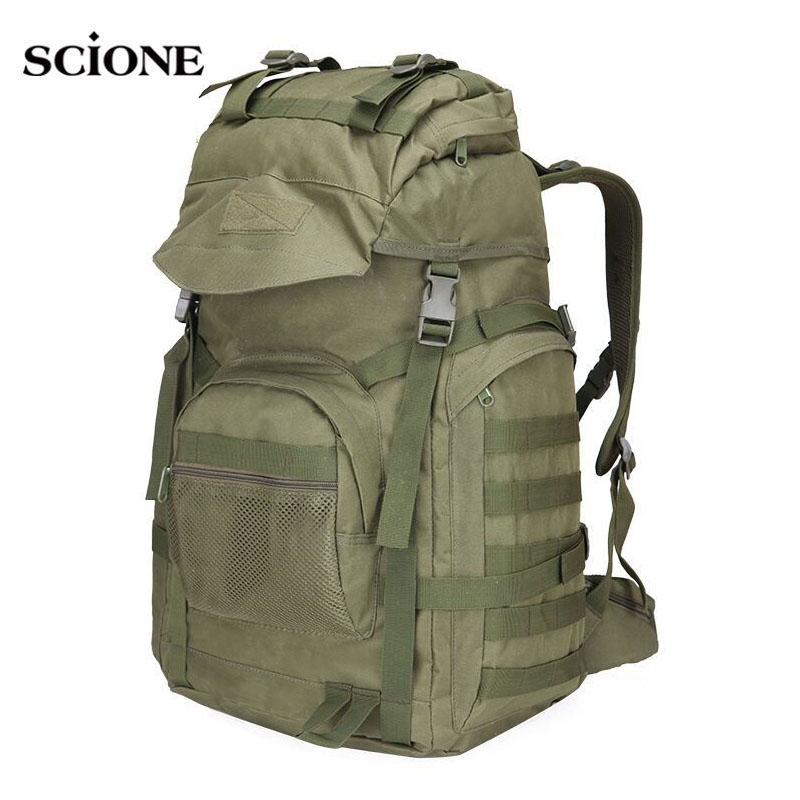 Military Tactical Assault Backpack Army Molle Waterproof Rucksack Large Backpacks for Outdoor Hiking Camping Hunting Bag