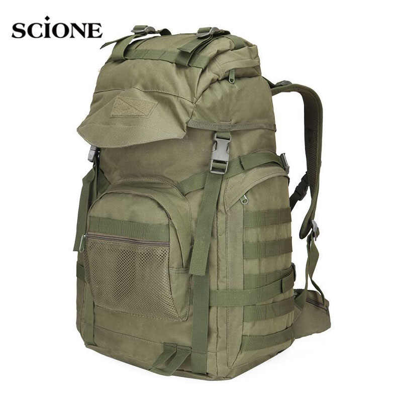 Military Tactical Assault Backpack Army Molle Waterproof Rucksack Large Backpacks for Outdoor Hiking Camping Hunting Bag XA421WA