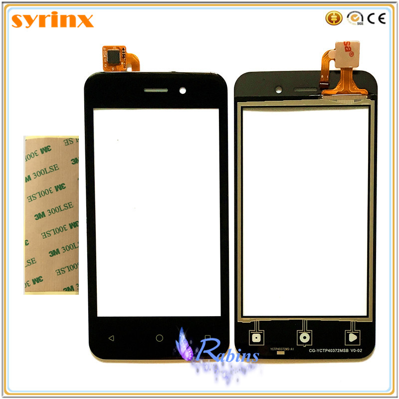 SYRINX 3m Tape Touch Screen Glass For BQ BQS 4026 BQS-4026 BQS4026 BQ-4026 Touch Panel Sensor Digitizer Replacement Touchscreen