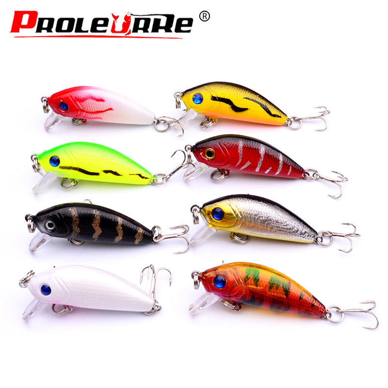 Proleurre 4.5cm 3.5g Minnow Fishing Lure Floating Fishing Wobbler Artificial Hard Bait Crankbait Japan Fishing Tackle Pesca 1pcs 3d eye wobbler fishing lure 8 5cm 6 8g japan swimbait pesca crazy wobble crankbait swimming bait fishing tackle