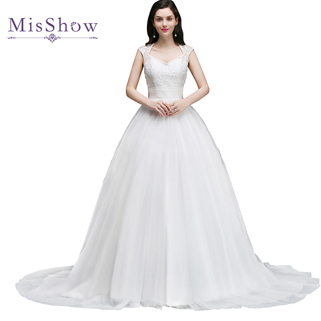 Romantic 2018 Ball Gown Wedding Dress Robe De Mariage Princess Tulle ...