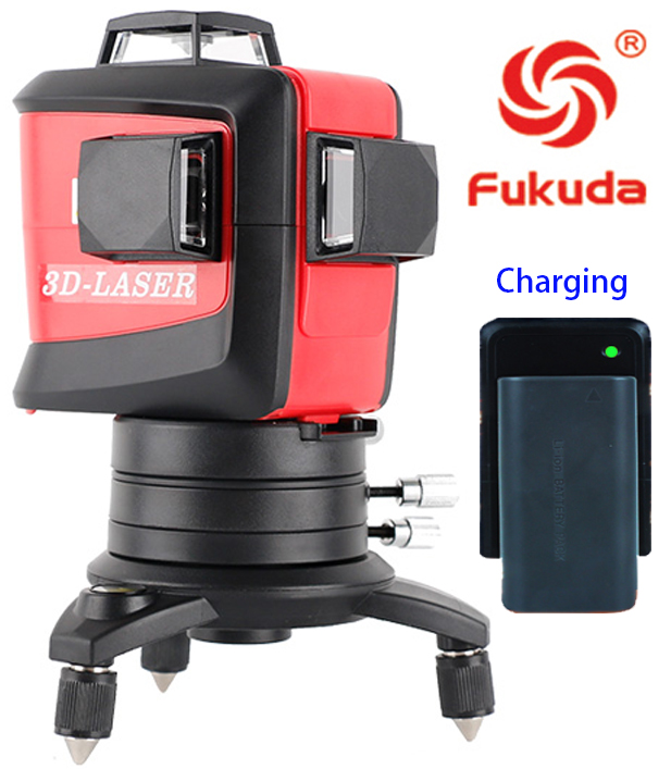 Fukuda Brand MW-93T 12Lines 3D Laser Level Self-Leveling 360 Horizontal And Vertical Cross Super Powerful red Laser Beam Line