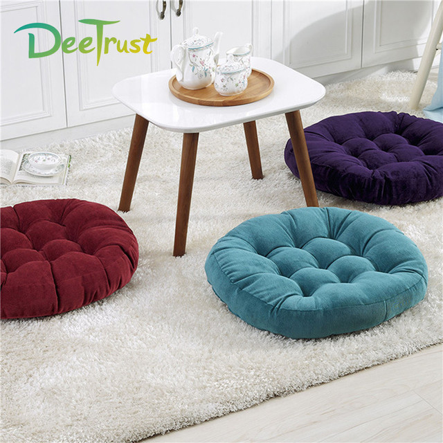 Hot Japanese Style Tatami Round Solid Color Thickening Chair Seat ...
