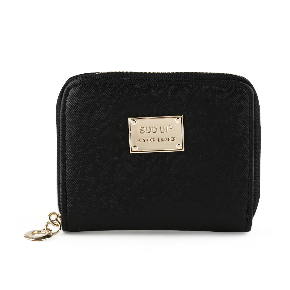 Lady Women Girls Fashion Cute Soft Leather Zipper Small Coin Purse with Key Ring