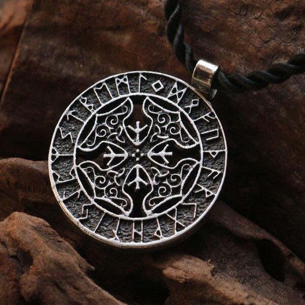 20pcs Viking Runes Four Thors Hammer Pendant Dragon Soul Jewelry