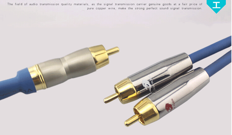 5m 8m 10m # RCA to 2 RCA Male Subwoofer RCA Audio Cable TV DVD ...