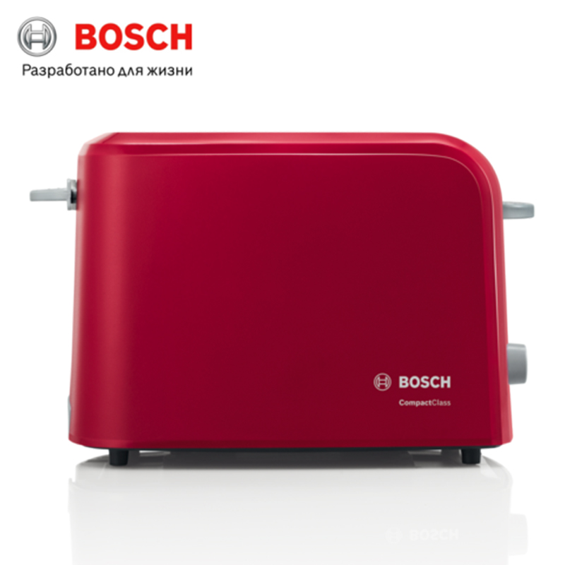Toaster Bosch toaster TAT3A014 bread Household Baking 2 Slices Slots for Breakfast toast machine automatic zipper cutting sliced toast mold white coffee