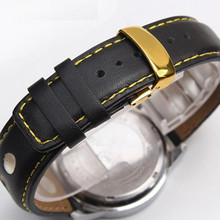 Black 20 mm Genuine Leather Watch Band Strap Watche Band Strap Belt Watchband Folding Clasp / Buckle For Breitling Pam все цены