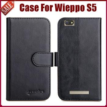 ¡Gran oferta! Wieppo S5 funda nueva llegada 6 colores de alta calidad funda protectora de cuero con tapa para Wieppo S5 funda de teléfono