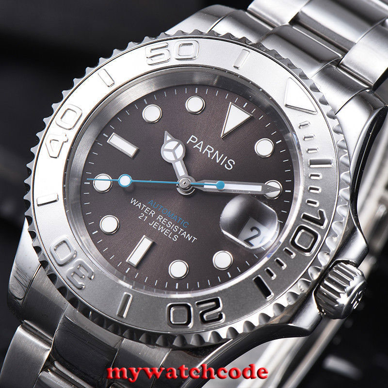 41mm Parnis gray dial Ceramic bezel 21 jewels miyota 8215 automatic mens watch игрушка ecx ruckus gray blue ecx00013t1