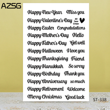 AZSG I wish you happiness every day. Clear Stamps For DIY Scrapbooking/Card Making/Album Decorative Silicon Stamp Crafts