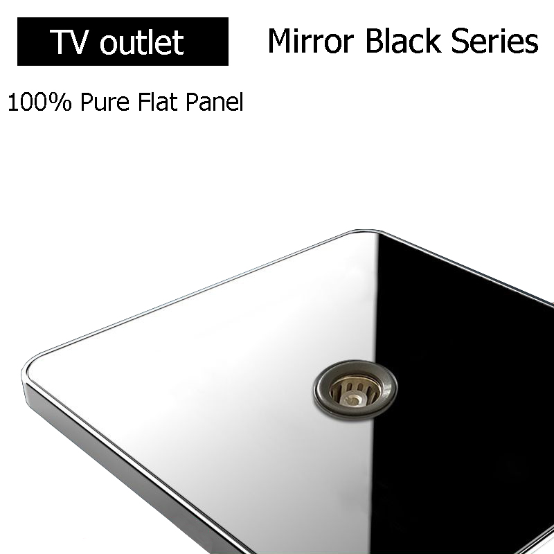 Coswall Brand TV Socket Luxury Wall Television Outlet Acrylic Crystal Mirror Panel Electrical Jack