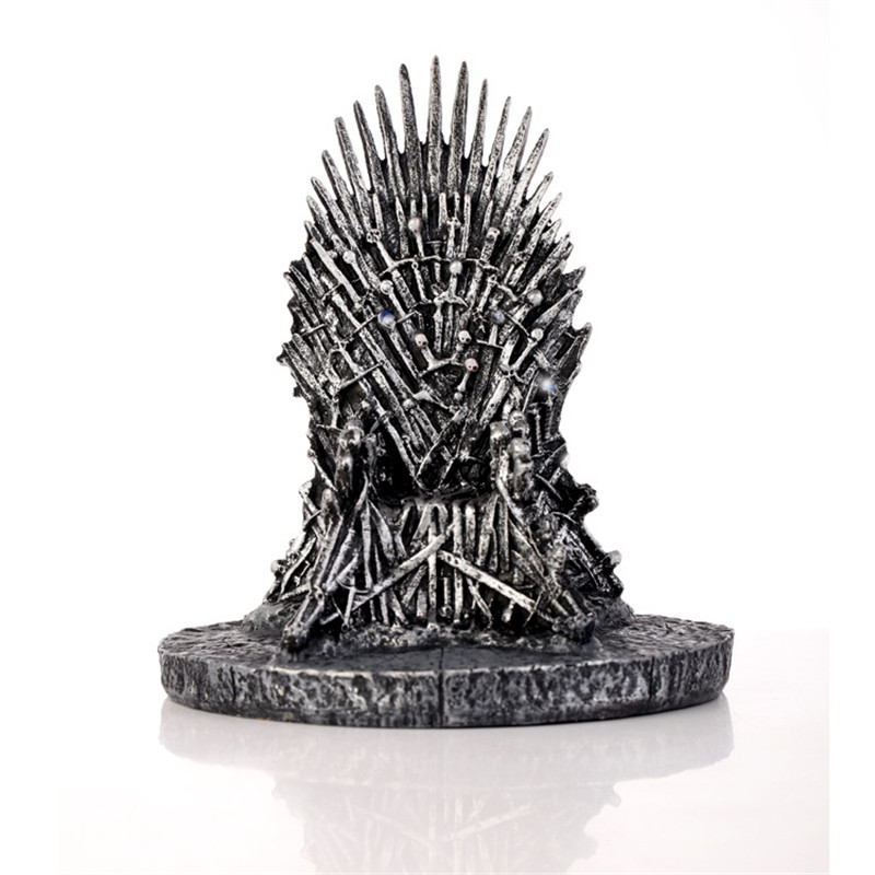 "17cm Game of Thrones Season 7/"" The Iron Throne Stark/'s Sword Chair Figure Fan/'s"