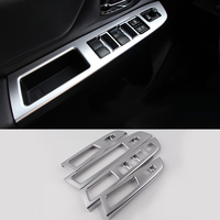 2016 Car Styling 4pcs/lots ABS Interior Door Window Lift Switch Panel Decoration Cover For Subaru XV 2012- 2015 Trim Decoration