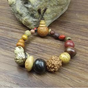 Image 2 - תכשיטי אופנה צמידי צמיד קסם בודהה צמיד בציר 18 זרע בודהי הטבעי טיבט הבודהיסטי חרוזים עץ